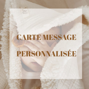 carte message personnalisée